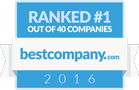 Ranked #1 by bestcompany.com in 2016