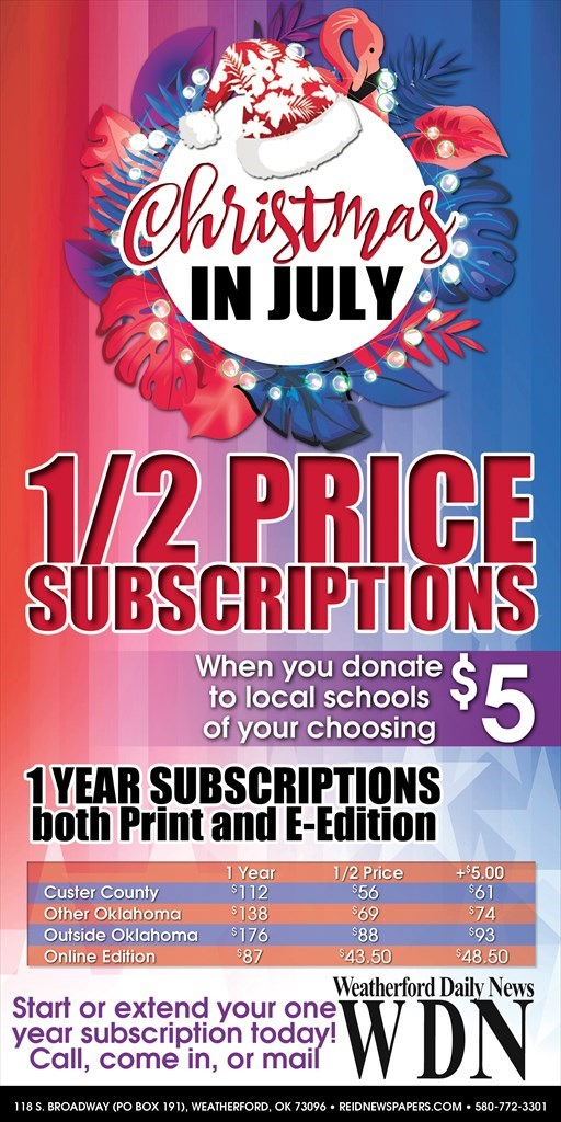 4th of July 1/2 Price w/$5 school donation WDN