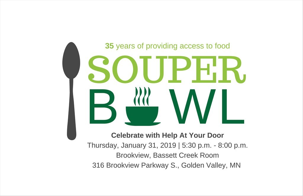 Help At Your Door - Souper Bowl Logo